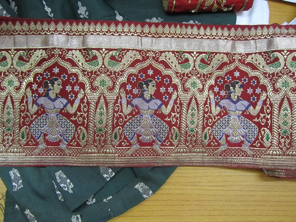 �Collectors� Corner� GILDED THREADS AND BROCADE SARI BORDERS0