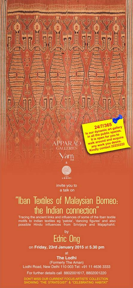 Iban Textiles of Malaysia Borneo the Indian Connection - New Delhi India0